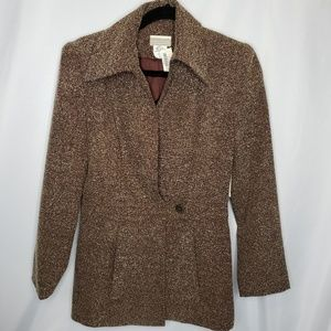 New! Coldwater Creek Tweed Extended Tab Jacket